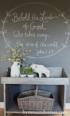 Easter Chalkboard Spring Home Tour