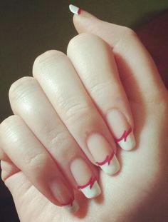 #nail #nails #nailart #pink #white