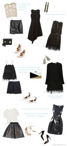 What are you wearing this New Years Eve? Find perfect outfit ideas on Simply Elegant Blog.