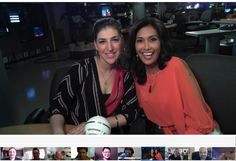 Met Mayim Bailik (Blossom) while hanging out with MyFoxLA