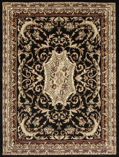 Black Oriental Persian Traditional Rugs Under $100 - Bargain Area Rugs