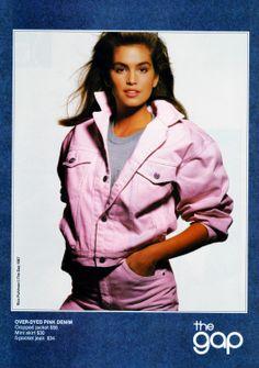 cindy crawford, the gap, 1987 Modern Fashion, 90s Fashion, Vintage Fashion, Retro Outfits, Vintage Outfits, Vintage Clothing, Gap Ads, Kara Young, Guess Ads