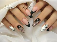 Маникюр и Я | Всегда свежий маникюр Lace Nails, Flower Nails, Stiletto Nails, Fabulous Nails, Gorgeous Nails, Pretty Nails, Hot Nails, Hair And Nails, Nail Art Dentelle