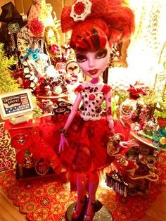 """Free Shipping Monster High """"Operetta Spider Girl"""" Embellished Outfit Accessories 