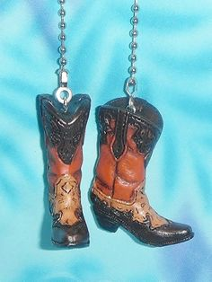 Cowboy boot ceiling fan pull western lamp chain parts riversedge 338 set of two cowboy boots redbrown traditional western ceiling fan pulls aloadofball