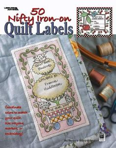 50 Nifty Iron On Quilt Labels - Quilting Label BookSECONDARY_SECTION$20.00: Fabric Patch: Patchwork Quilting fabrics, Moda fabric, Quilt Supplies,�Patterns