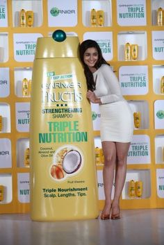 <p>Alia Bhatt showed off her luscious locks and long legs in a cute white mini dress at a recent event</p>