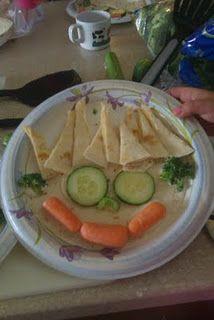 Fun monster quesadillas