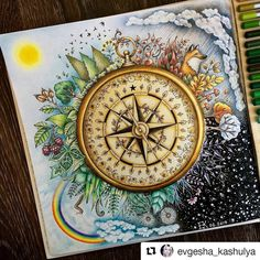 "1,393 Likes, 22 Comments - Desenhos Colorir (@desenhoscolorir) on Instagram: ""Que perfeito! #Repost @evgesha_kashulya with @repostapp #florestaencantada #enchantedforest…"""