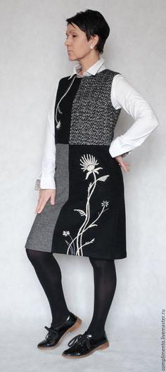 Купить Сарафан шерстяной с вышивкой ДИАЛОГ в интернет магазине на Ярмарке Мастеров