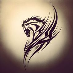 If you are looking to find the best horse tattoo designs, you have come to the right place. We have constructed this list of the best designs the internet has to offer no matter what tattoo location you choose. Its hard to picture a world where horses. Tribal Horse Tattoo, Tribal Animal Tattoos, Horse Tattoo Design, Tribal Animals, Tribal Tattoo Designs, Tribal Art, Tribal Wings, Tribal Images, Horse Tattoos