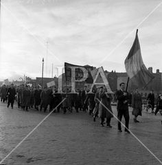 1957 - Unemployed Protest March in Dublin History Photos, Photo Archive, More Photos, Dublin, Ireland, Irish, Louvre, March, Fine Art