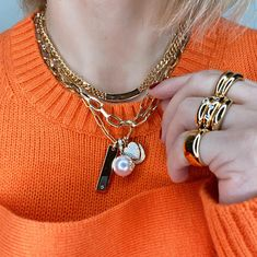 Babe its cold outside - better layer up Tap to shop or #linkinbio #GAjewelry #JewelryStories