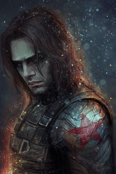 The Winter soldier Bucky Barnes fanart Sebastian Stan, Marvel Comics, Marvel Avengers, Secret Avengers, Comic Superheroes, Marvel Fan Art, Marvel Heroes, Image Clipart, Art Clipart
