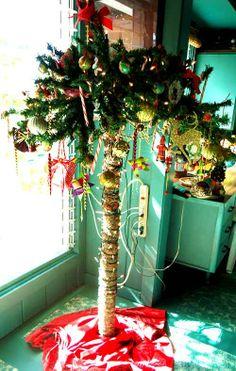 Christmas palm tree in Hawaii.