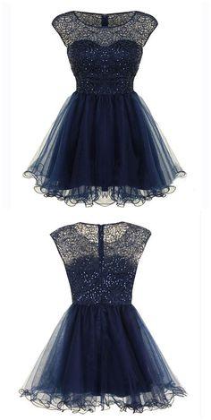 homecoming dress, short homecoming dress, junior homecoming dress, short navy…