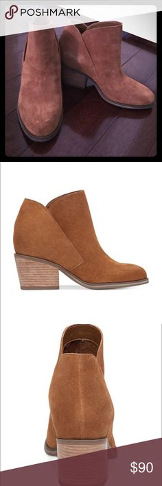 """JESSICA SIMPSON TANDRA BLOCK HEEL BOOTIES!!! Worn once- down the block and back (5 minutes total). Realized they weren't the right fit for me. Amazing, versatile bootie!! Original box included. 2-2/25"""" block heel. Suede upper. Jessica Simpson Shoes Ankle Boots & Booties"""