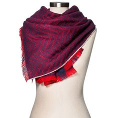 Blanket Scarf Red/Navy - Merona