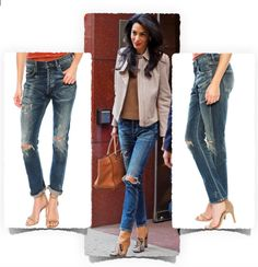 What ripped blue jeans are celebs wearing? Amal Clooney is wearing the Citizens od Humanity vintage premium boyfriend jeans in slim fit. From $248 USD from the singer22 website.   http://owl.li/MQFRC