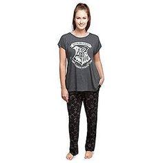 Harry Potter Hogwarts Crest T-Shirt and Pant Sleep Set  e1335b62b