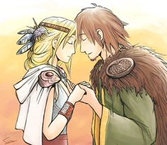 Grown up Hiccup and Astrid getting married! Okay, it's cheesy, but well done!