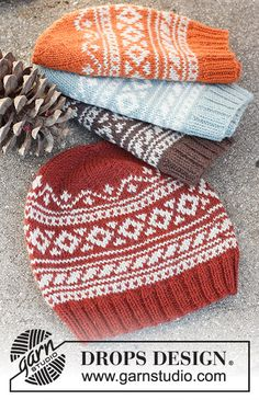 Baby Knitting Patterns, Knitting Designs, Drops Design, Drops Karisma, Knitted Hats, Crochet Hats, Crochet Diagram, Christmas Knitting, Easy Knitting