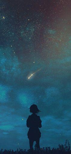 Wunsch nach einem Stern (iPhone X) - 携帯電話の背景 Blank Wallpaper, Anime Scenery Wallpaper, Wallpaper Iphone Disney, Cute Wallpaper Backgrounds, Pretty Wallpapers, Colorful Wallpaper, Galaxy Wallpaper, Wallpaper Quotes, Landscape Wallpaper