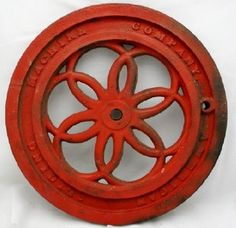 Vintage Cast Iron Winch Pulley Wheel 3 Chips On The Wheel Other Architectural Antiques