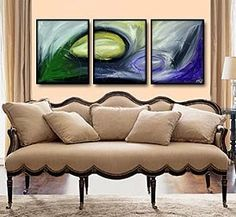 Gen886 48x20 Original Abstract Painting by Geni by genistudio, $69.99