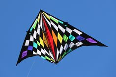 19 Foot Teknacolor Delta Kite by Premier Kites. Photo by Wooden Nicol. Available for purchase from kitty Hawk Kites. #kite #kites #rainbow