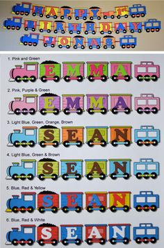 Birthday Train Party Decorations, Thomas the Train, Train Birthday Party Banner - Custom Name/Age (20 letters). $22.00, via Etsy.