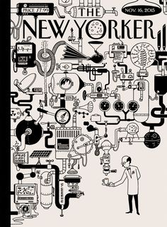 La Belle Illustration: Christoph Niemann The New Yorker couverture 16 novembre 2015 The New Yorker, New Yorker Covers, Chuck Close, Capas New Yorker, Editorial Design, Christoph Niemann, Rube Goldberg, Inspiration Artistique, Shakespeare And Company