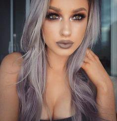 Morphe Brushes on eyes NYX Cosmetics honeymoon liquid lippie by lolaliner – beauty Hair Color Blue, Purple Hair, Hair Colors, Purple Gray, Beauty Makeup, Hair Makeup, Hair Beauty, Makeup Eyeshadow, Glitter Makeup
