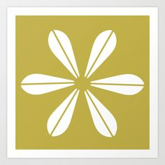 LOTUS MINIMAL - olive. Art Print by The Bearded Bird. - $14.00