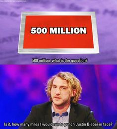 How many miles I would run to punch Justin Bieber in the face | Seann Walsh | Mock the Week