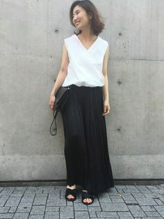 Deuxieme Classe 青山店|MUSE de Deuxieme Classe/スタッフさんのスカート「◆イレギュラープリーツスカート(Deuxieme Classe|ドゥーズィエムクラス)」を使ったコーディネート