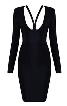 Jansen Black Bandage Dress