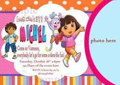 Dora the explorer birthday invitation. Dora and by neildigiprints, $9.00