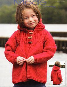 Childs Aran duffle coat, childs Aran jacket, aran coat child ...