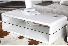 SPECTRUM - coffee table white high gloss glass table by Neofurn £189