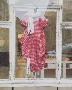 Pretty pretty by Casey Casey... red  pink gingham dress now available at egg. #eggshop #eggtrading #gingham #checks #red #pink #sunmerdress #ss18 #springsummer2018