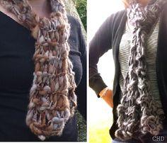CHD: No Needle Knitting Scarf Tutorial