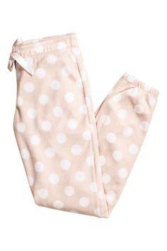 Flísové pyžamové kalhoty | H&M