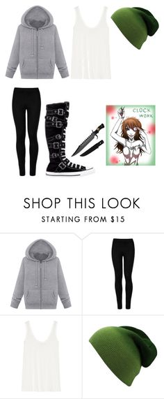 """""""Clockwork creepypasta inspired outfit"""" by creepycancerian ❤ liked on Polyvore featuring Wolford, Converse and The Row"""