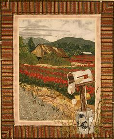 WaitingThis quilt is based on pictures I took of an old barn in Washington's Skagit Valley. Near the barn was this dilapidated mailbox, still functional though it had seen better days. Created: 2007 Laura Fogg