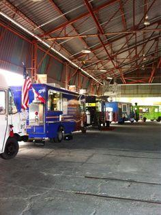 setting up all the toronto food trucks