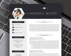 Professional Resume Template Cover Letter US Letter par DigitalCV