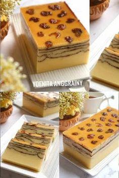 Puding Lapis Prancis Pudding Desserts, Pudding Cake, Pudding Recipe, Brownie Recipes, Cookie Recipes, Dessert Recipes, Bolu Cake, Cake Receipe, Resep Cake
