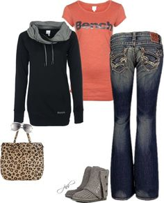 """""""Casual - Bench Tee and Hoodie"""" by jill-hammel on Polyvore   elfsacks"""