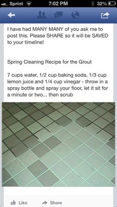 How to clean grout.